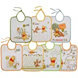 Babycalin Lot de 7 Bavoirs Doodle Craft Fermeture Lacets