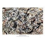 Jackson Pollock (Silver on Black) Art Poster Print - 24x36 Collections Poster Print by Jackson Pollock, 36x24 Fine Art Poster Print by Jackson Pollock, 36x24