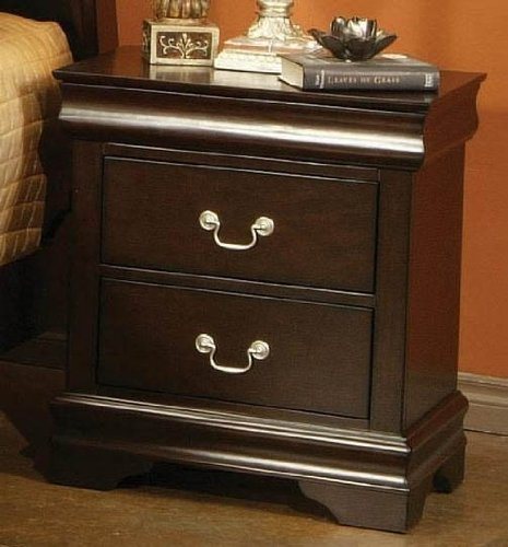 Cappuccino Nightstand with Jewelry Drawer by Coaster