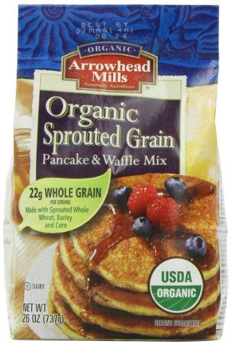 Arrowhead Mills 01767 Arrowhead Mills Sprouted Pancake & Waffle Mix- 6x26 Oz