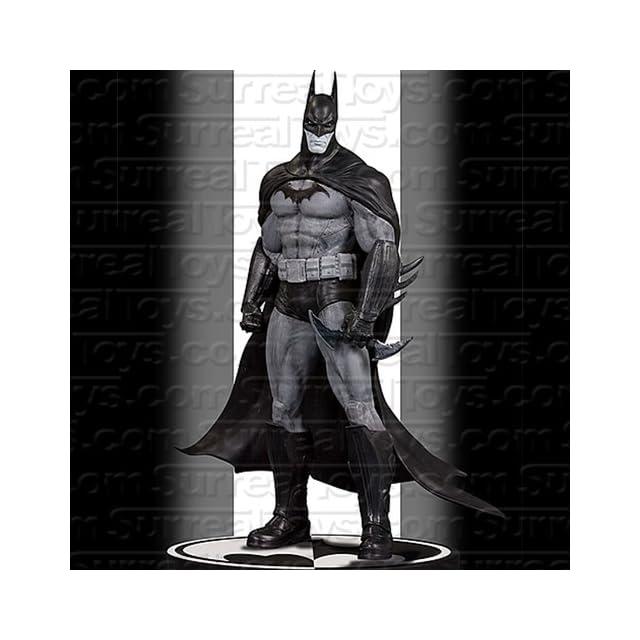 DC Direct Batman Black  and  White Statue Batman Arkham Asylum
