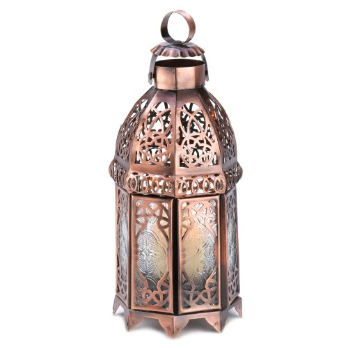 Gifts & Decor Copper Finish Iron Moroccan Candle Holder Gifts & Decor B0040IHAY2