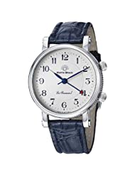 Martin Braun La Sonnerie I Men's Blue Leather Strap Mechanical Alarm Watch MB190S