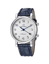 Martin Braun La Sonnerie I Men's Blue Leather Strap Mechanical Alarm Watch MB190S