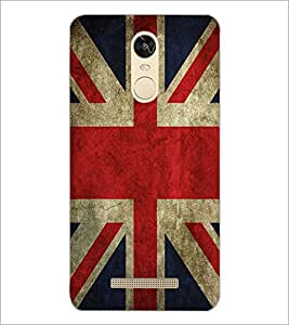 PrintDhaba UK Flag D-2046 Back Case Cover for XIAOMI REDMI NOTE 3 (Multi-Coloured)