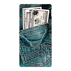 Voila Full Money Jeans Back Case Cover for Sony Xperia SP