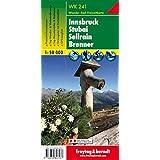 Freytag Berndt Wanderkarten, WK 241, Innsbruck - Stubai - Sellrain - Brenner - Maßstab 1:50 000 (Hiking Maps of the Austrian Alps)