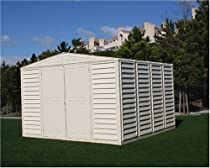 Hot Sale DuraMax Model 00411 10x10 WoodBridge Vinyl Storage Shed