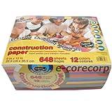PACON CONSTRUCTION PEPER アシッドフリー工作用紙12色 648枚入り (12色の色画用紙)