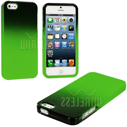 Buy  myLife (TM) Lime Green + Black Two Tone Series (2 Piece Snap On) Hardshell Plates Case for the iPhone 5/5S (5G) 5th Generation Touch Phone (Clip Fitted Front and Back Solid Cover Case + Rubberized Tough Armor Skin + Lifetime Warranty + Sealed Inside myLife Authorized Packaging)