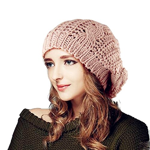 Tinxs Winter Lady's Warm Knitted Beret Braided