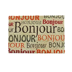 Art shopping paillasson en coco motifs texte bonjour - Paillasson en anglais ...