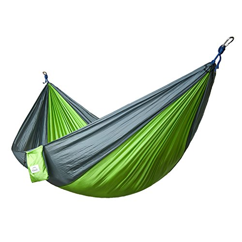 Double and Single Camping Hammocks Ultralight Portable Nylon Parachute Multifunctional Hammocks for Light Travel, Camping, Hiking, Backpacking, Mats, Swing, Carpet Apriller (Double Person Hammock Camping compare prices)
