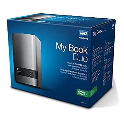 WD 12TB My Book Duo Desktop RAID External Hard Drive - USB 3.0 - WDBLWE0120JCH-NESN