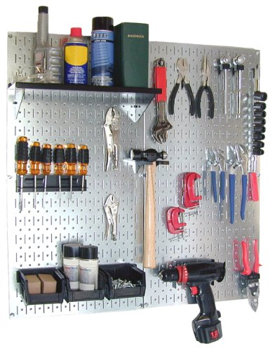 Images for Wall Control 30-WGL-200GVB Galvanized Steel Pegboard Tool Organizer