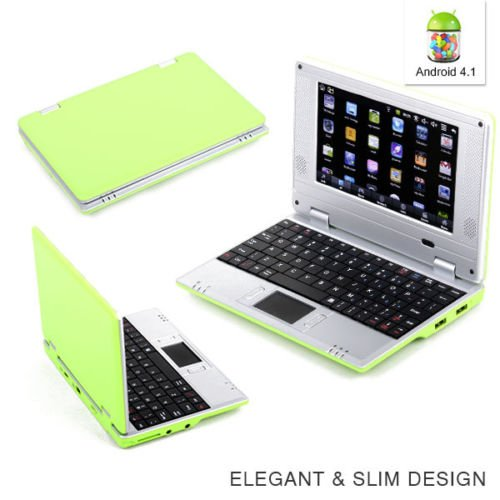 Goldengulf 7 Inch Latest Green 4.1 JellyBean Mini Android Computer Laptop