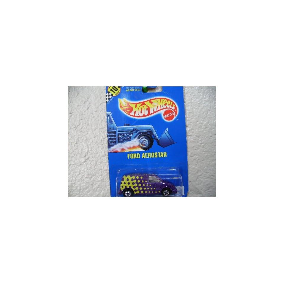 Hot Wheels Ford Aerostar #151 All Blue Card Purple with 5 Basic Wheels