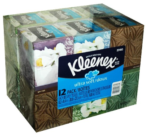 Kleenex Ultra Soft Facial Tissue, 12-Pack