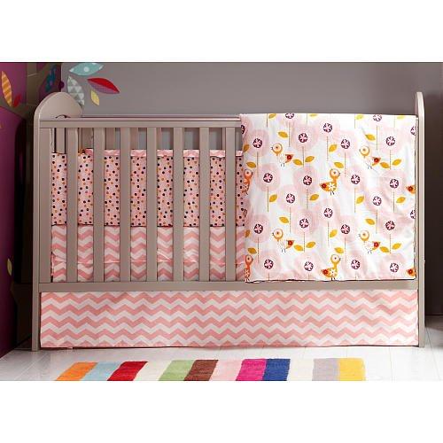 Mamas & Papas Girls Crib Skirt - Bird