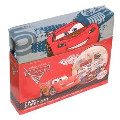 cheap disney pixar cars 2 twin sheet set lightning mcqueen francesco