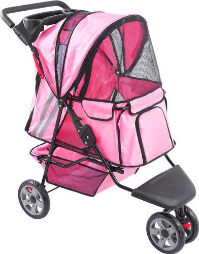 Pink Zephyr 3-Wheel Pet Jogging Stroller front-570542