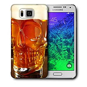 Snoogg Skull Shape Beer Glass Designer Protective Back Case Cover For Samsung Galaxy Alpha