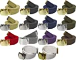 Army Belts Color 100% Cotton Canvas M...