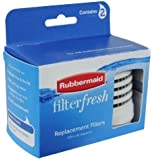 Rubbermaid Filterfresh Replacement Filters 2 Count (2 Boxes)