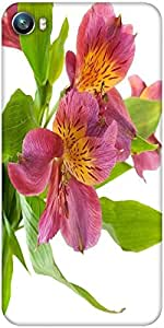 Snoogg alstroemeria flowers Designer Protective Back Case Cover For Micromax Canvas Fire 4 A107