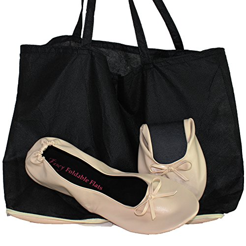 Purse Pal : Your Solemates Purse Pal Foldable Bowed Ballet Flats w/ Expandable ...