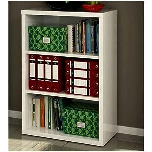 Libreria mobile in kit tre vani bassa ufficio laccata - Emporio del mobile in kit ...