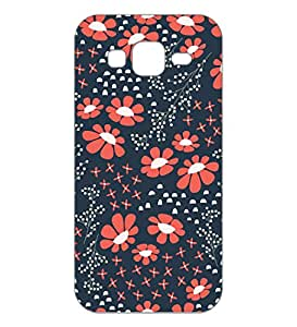 Happoz Samsung Galaxy E7 Cases Back Cover Mobile Pouches Patterns Floral Flowers Premium Printed Designer Cartoon Girl 3D Funky Shell Hard Plastic Graphic Armour Fancy Slim Graffiti Imported Cute Colurful Stylish Boys Z045