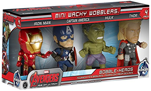 Funko - Figurine Marvel Avengers Age of Ultron - Pack 4 mini bobblehead 7cm - 0849803051624