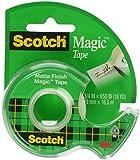 Scotch Magic Tape with Dispenser, 3/4 x 650 Inches (122)