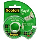 Scotch Magic Tape with Dispenser, 3/4 x 650 Inches