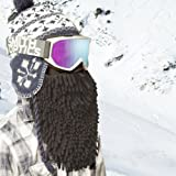 Beardski Men's Black Rasta Mask