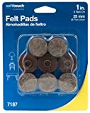 1-Inch Nail On Round Felt Pads, Brown