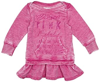 Diesel Baby-Girls Infant Deyefb Sweatshirt Dress, Fuschia Pink, 12 Months