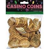 Plastic Casino Gold Coins, 144 Ct