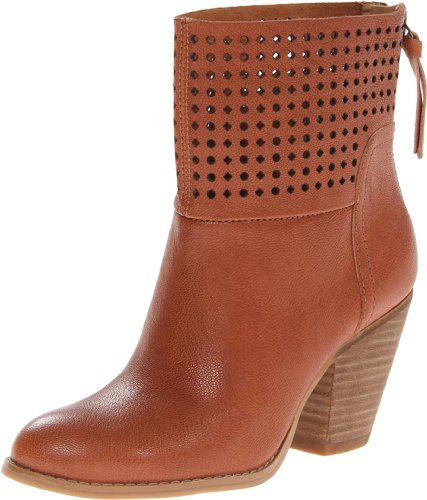 Nine West Women'S Hippychic Leather Boot,Cognac Leather,9.5 M Us