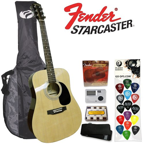 Starcaster by Fender Acoustic Guitar Starter Pack, Natural