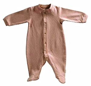 Tadpoles Organic Double Knit Cotton Footed Snap Front Romper, Cocoa, 6-9 Months
