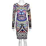 TONSEE-Tonsee-Sexy-Women-Long-sleeve-Printed-Bodycon-Dress