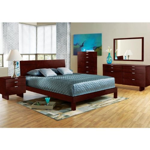 Violet Merlot 5 Pc Queen Bedroom