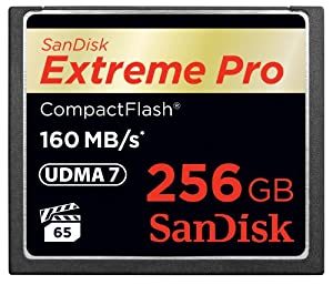 SanDisk Extreme PRO 256GB CompactFlash Memory Card UDMA 7 Speed Up To 160MB/s- SDCFXPS-25G-X46