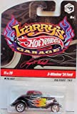 Hot Wheels 2009 Larry's Garage #11/20 3-Window '34 Ford with Real Riders Tires Collectible Car..