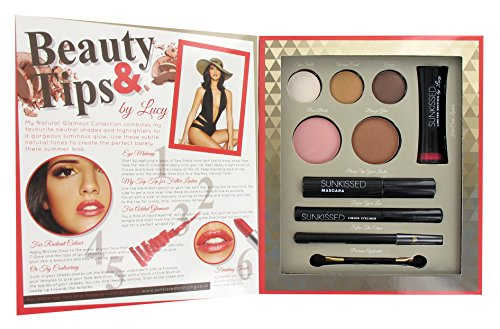 Sunkissed By Lucy Get The Look: Natural Glamour Confezione Regalo 3 x Ombretti + Blusher + Bronzer +