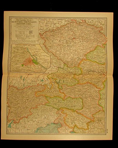 austria-hungary-western-part-vienna-bohemia-1911-detailed-vintage-old-color-map