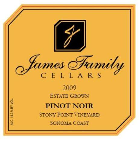 2009 James Family Cellars Pinot Noir Sonoma Coast 750 Ml