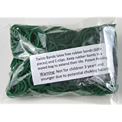 [Best price] Arts & Crafts - Twistz Bandz Latex Free Rubber Band Bag + C-clips - Dark Green - toys-games